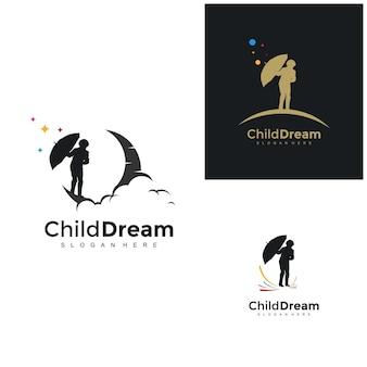 창의 아이 꿈 디자인 개념 삽화