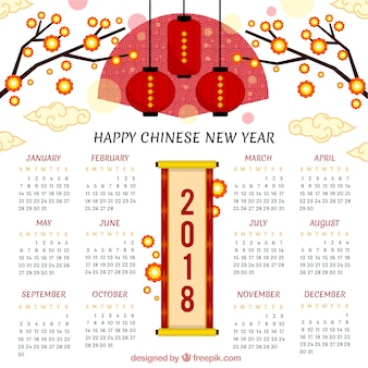 Creative chinese new year calendar