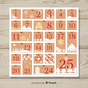 Creative christmas advent calendar design