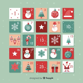 Creative christmas advent calendar