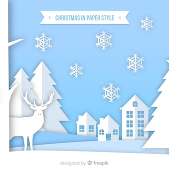 Creative christmas background in paper style