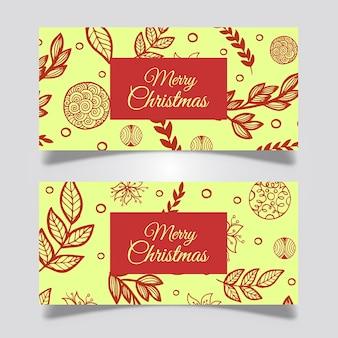Креативные рождественские баннеры