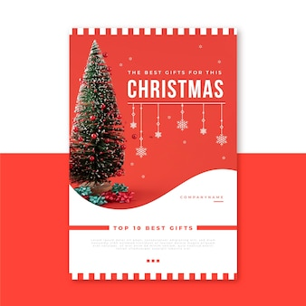 Creative christmas blog post template