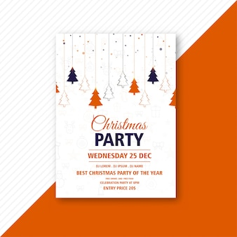 Creative christmas flyer template card
