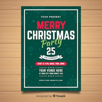 Creative christmas flyer template