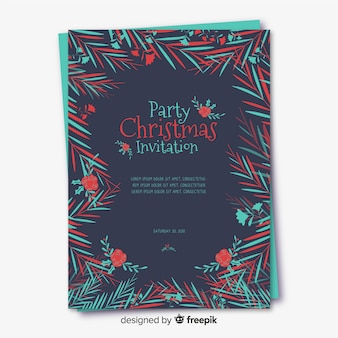 Creative christmas flyer template