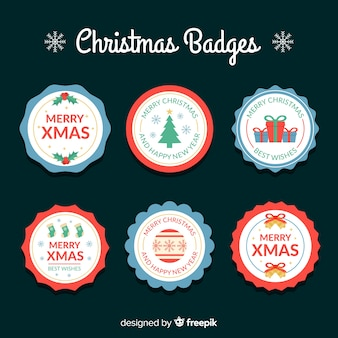 Creative christmas label collection