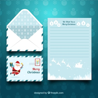 Creative christmas letter template