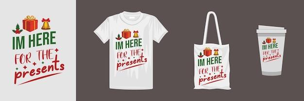 クリエイティブなクリスマスレタリングtシャツのデザイン。 tシャツ、マグカップ、ギフト、その他の印刷に適しています。
