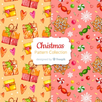 Creative christmas pattern collection