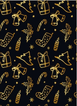Creative christmas seamless pattern/background