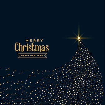 Creative christmas sparkles tree shiny design
