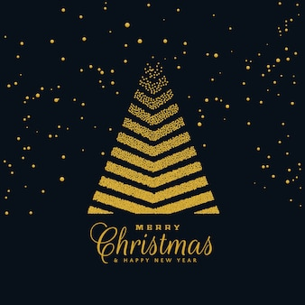Creative christmas tree design on dark background