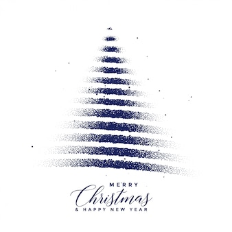 Creative christmas tree made with dots particles