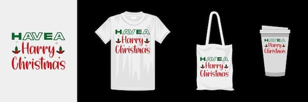 クリエイティブなクリスマスタイポグラフィtシャツのデザイン。クリスマスの日のカラフルなtシャツ