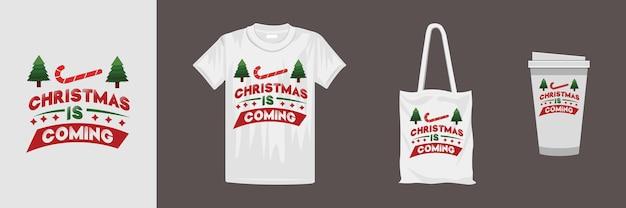 クリエイティブなクリスマスタイポグラフィtシャツのデザイン。 tシャツ、マグカップ、ギフト、その他の印刷に適しています。