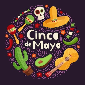 Creative cinco de mayo background