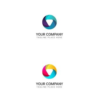 Creative circle logo design - vector