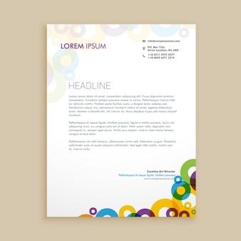 Creative circle shapes letterhead