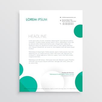 Creative circles letterhead design template vector