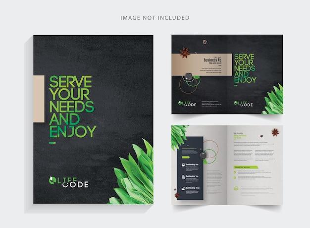 Creative clean bifold brochure
