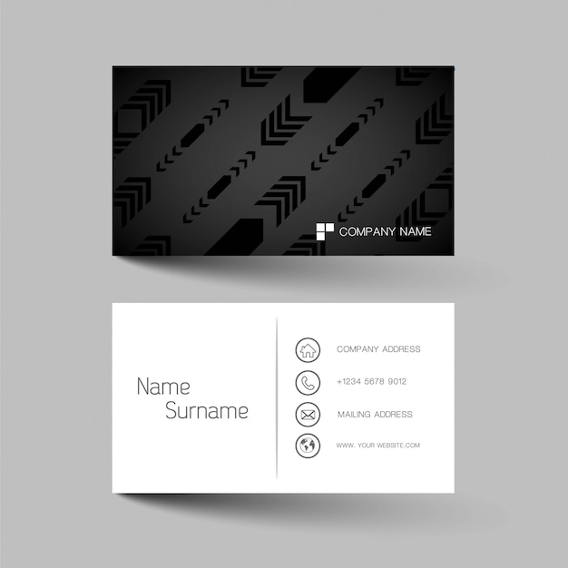 Creative and clean business card design.