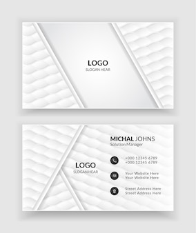 Creative and clean business card template.