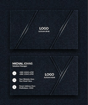 Creative and clean business cards template black colors.
