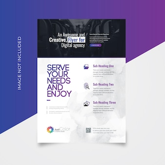 Creative clean flyer