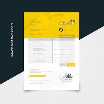 Creative clean invoice