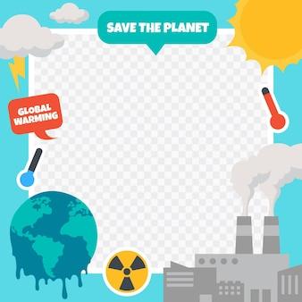 Creative climate change facebook frame