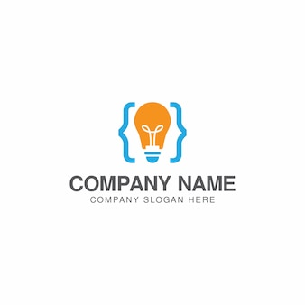 Creative code logo design template