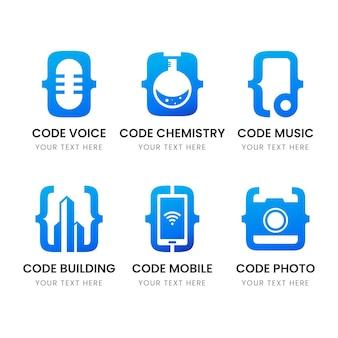 Creative code logo pack