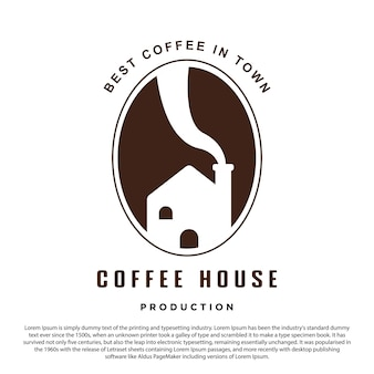 Creative coffee house logo design coffee bean and house perfect logo for your brand and business
