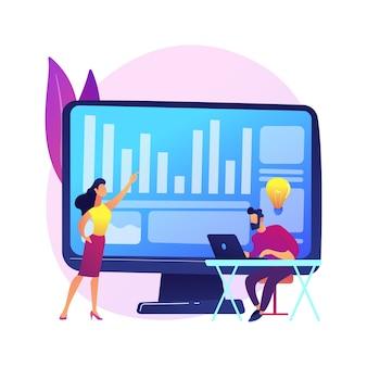 クリエイティブなコラボレーション。プログラム開発。成功した協力、コワーキングブレインストーミング、効果的なチームワーク。タスクについて話し合う同僚。アイデアが生まれます。