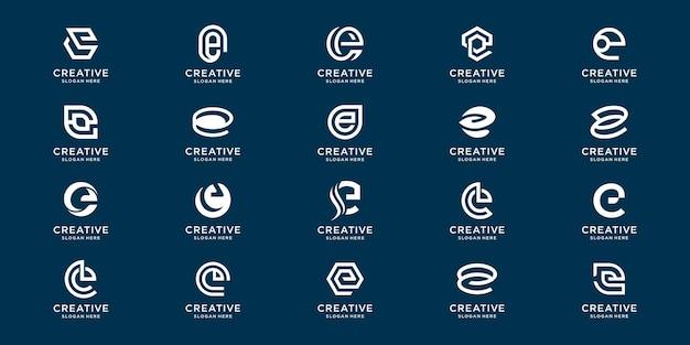 Набор монограмм creative collection e