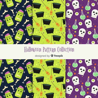 Creative collection of halloween patterns