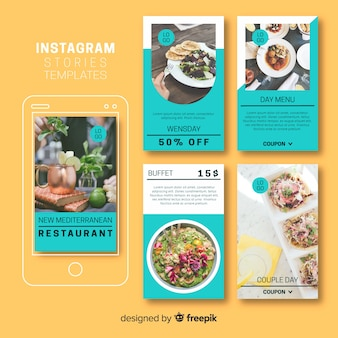 Creative collection of instagram stories