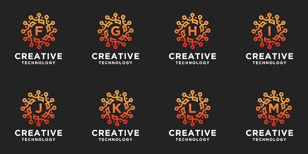 六角形のロゴのクリエイティブなコレクション