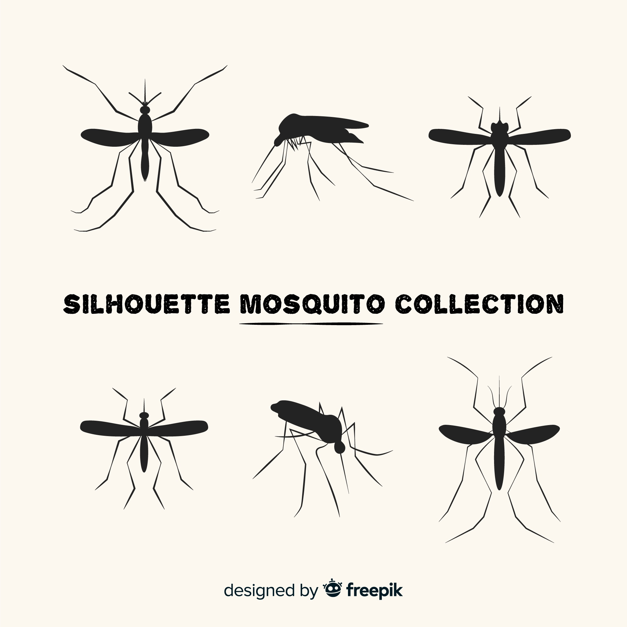 Creative collection of mosquito silhouettes