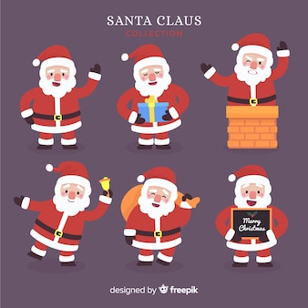 Creative collection of santa characters