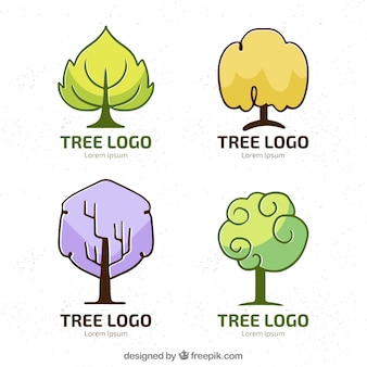 Creative collection of tree logos