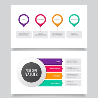 Creative colorful agile infographic
