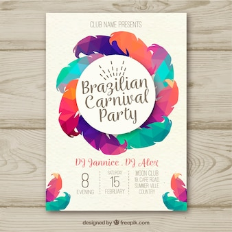 Creative colorful brazilian carnival poster design
