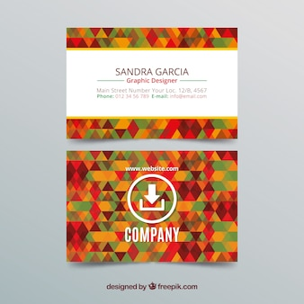 Creative colorful business card template Free Vector