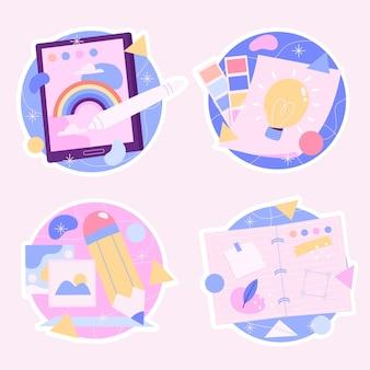 Набор творческих красочных творческих наклеек