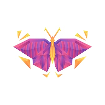 Creative colorful gradient butterfly vector logo concept design template