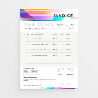 Invoice Design Vectors Photos And Psd Files Free Download