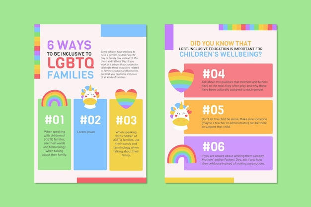 Creative colorful lgbt event love flyer