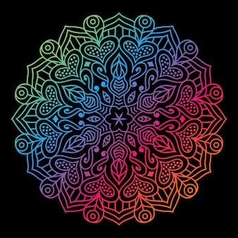 創造的なカラフルな豪華な曼荼羅の背景